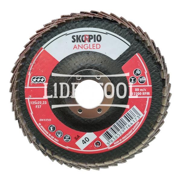 Шлифовальный круг КЛТ SwatyComet Scorpio Angled с загнутыми лепестками F27 SA40 125*22,23, цена – 190.00 грн, фото №1