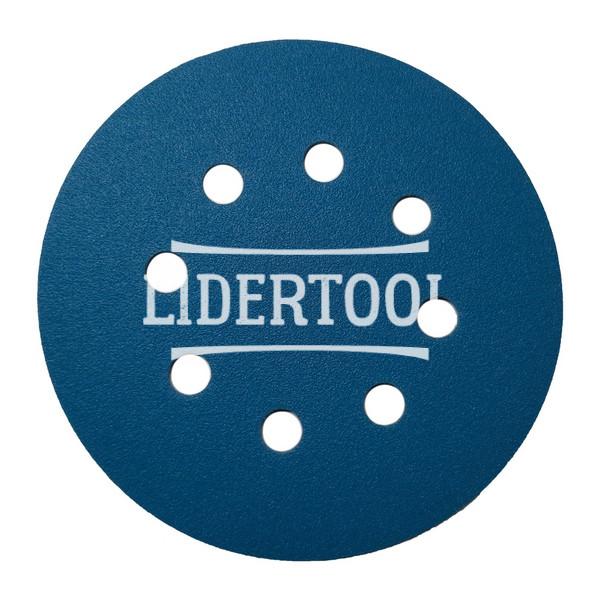Диск самозацепной Deerfos SA 331 8 отверстий D 125 P120, цена – 7.93 грн, фото №1