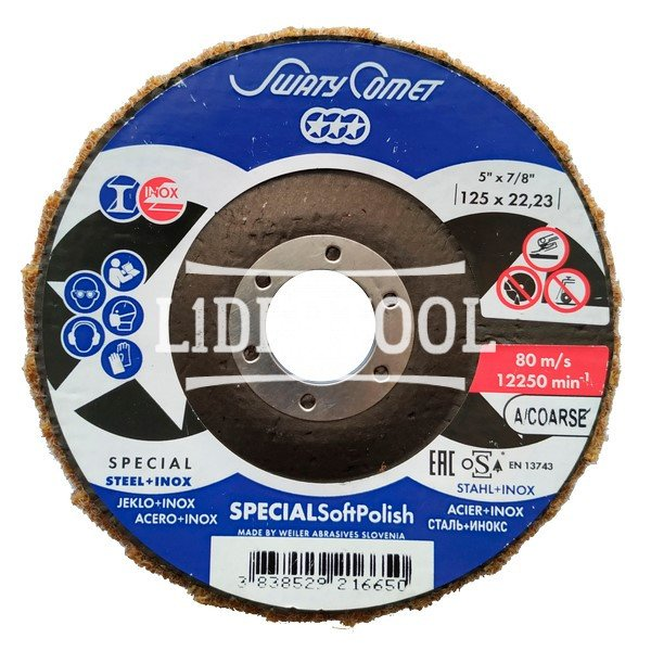Круг лепестковый торцевой SwatyComet F29 LB-SBK 125*22,23 A/COARSE POLISH, цена – 113.18 грн, фото №1