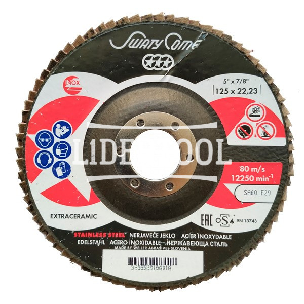 Круг лепестковый торцевой SwatyComet F29 LBD-K 125*22,23 SCORPIO CERAMIC SA60, цена – 129.18 грн, фото №1