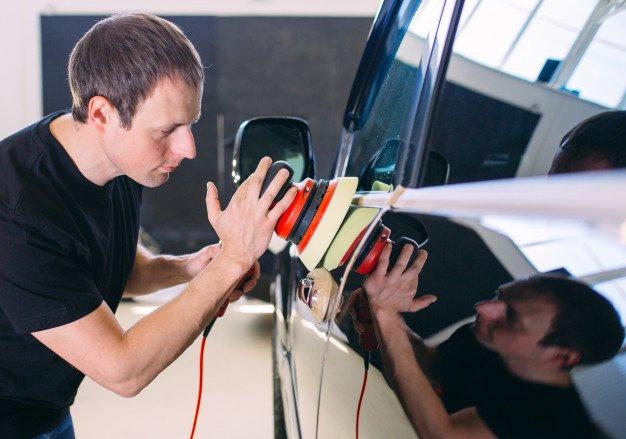 Полировка автомобиля с помощью наждачной бумаги